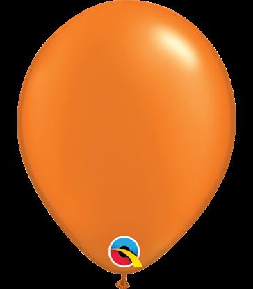 "Pearl Orange Pack of 100 5"" latex balloons"