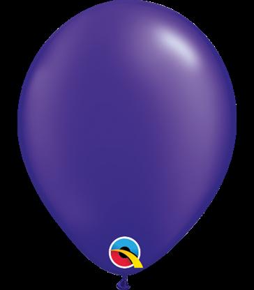 "Pearl Quartz Purple Pack of 100 5"" latex balloons"