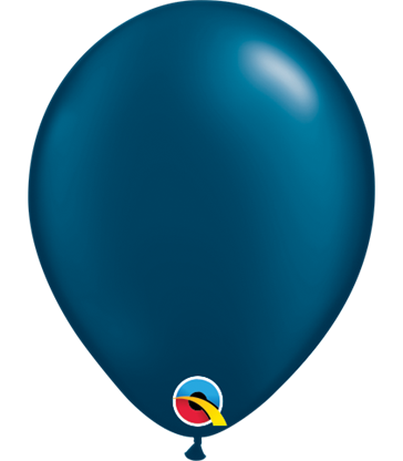 """Pearl Midnight Blue Pack of 100 5"""" latex balloons"""