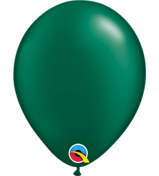 "Pearl Forest Green Pack of 100 5"" latex balloons"