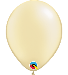 "Pearl Ivory Pack of 100 5"" latex balloons"