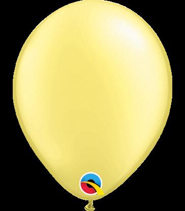"Pearl Lemon Chiffon Pack of 100 5"" latex balloons"