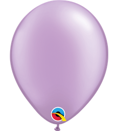 "Pearl Lavender Pack of 100 5"" latex balloons"