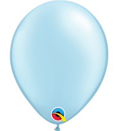 "Pearl Light Blue Pack of 100 5"" latex balloons"