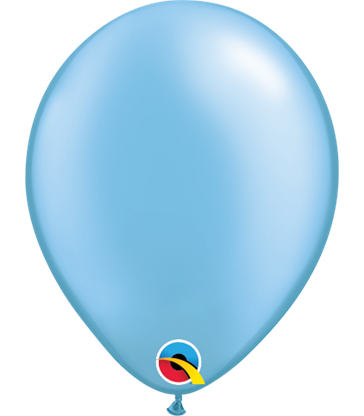 "Pearl Azure Pack of 100 5"" latex balloons"