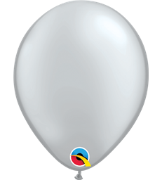 "Pearl Silver Pack of 100 5"" latex balloons"