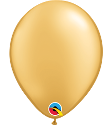 "Pearl Gold Pack of 100 5"" latex balloons"