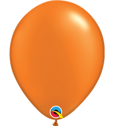 "Pearl Orange Pack of 100 11"" latex balloons"
