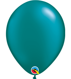 "Pearl Teal Pack of 100 11"" latex balloons"