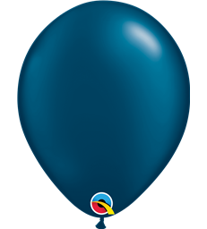 "Pearl Midnight Blue Pack of 100 11"" latex balloons"