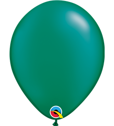 "Pearl Emerald Green Pack of 100 11"" latex balloons"