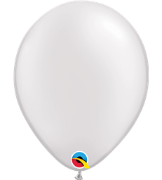 "Pearl White Pack of 100 11"" latex balloons"