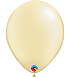 "Pearl Ivory Pack of 100 11"" latex balloons"
