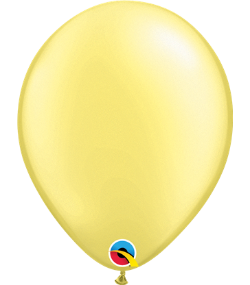 "Pearl Lemon Chiffon Pack of 100 11"" latex balloons"
