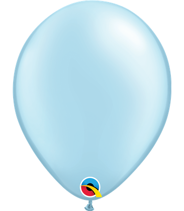 """Pearl Light Blue Pack of 100 11"""" latex balloons"""