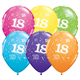 "Age 18 Pack of 6 11"" assorted coloured balloons"