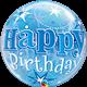 "Birthday Blue Starburst Sparkle 22"" balloon"