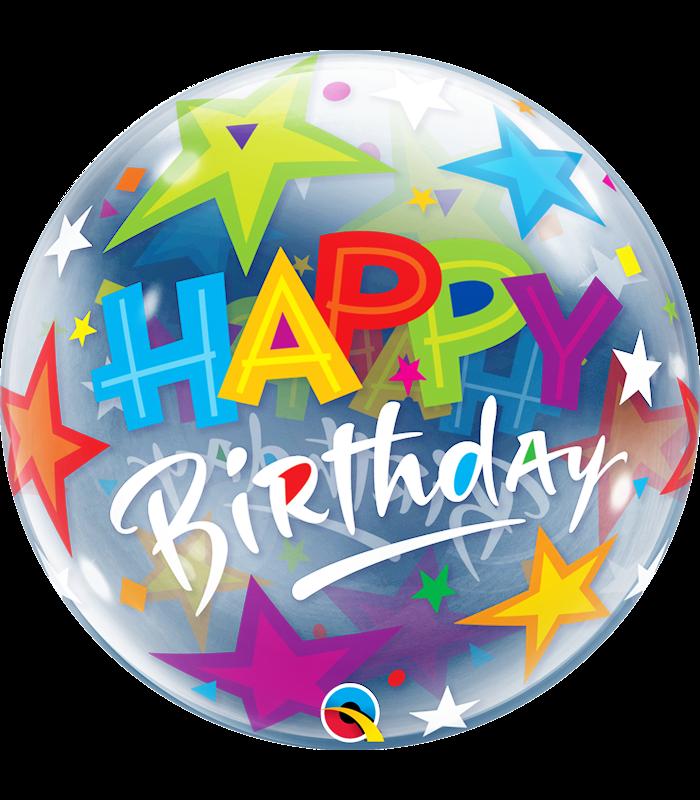 """Birthday Brilliant Stars 22"""" balloon"""