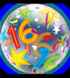"""16 Brilliant Stars 22"""" balloon"""