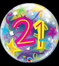 """21 Brilliant Stars 22"""" balloon"""