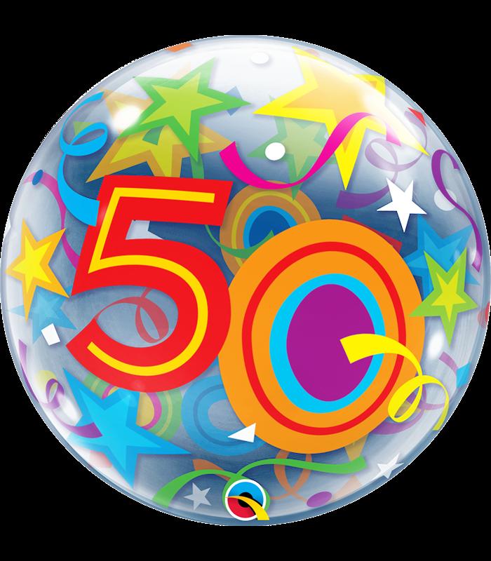 """50 Brilliant Stars 22"""" balloon"""