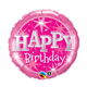 """Birthday Pink Sparkle 18"""" balloon"""