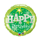 "Birthday Green Sparkle 18"" balloon"