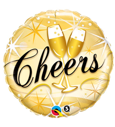 "Cheers Starbust 18"" balloon"