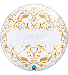 "Anniversary Classic Bubble 22"" balloon"