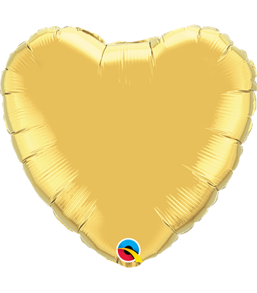 "Gold Heart 18"" balloon"