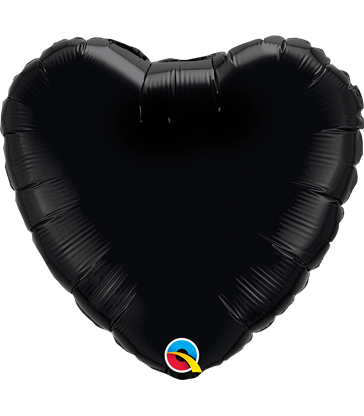 "Black Heart 18"" balloon"