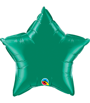 "Emerald Green Star 20"" balloon"