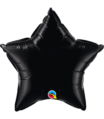 "Black Star 20"" balloon"