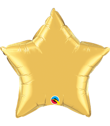 "Gold Star 20"" balloon"