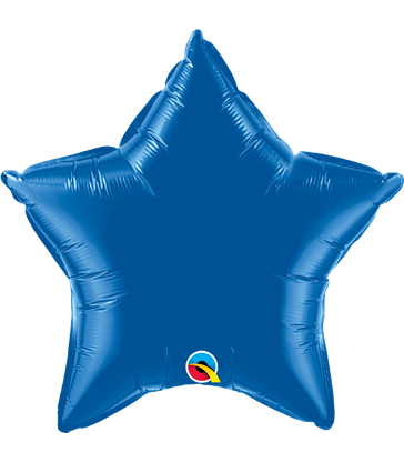 "Dark Blue Star 20"" balloon"