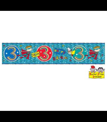 Rachel Ellen - Age 3 Super Hero Banner
