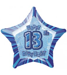 20'' PKG BLUE STAR PRISM 13 FOIL BALLOON