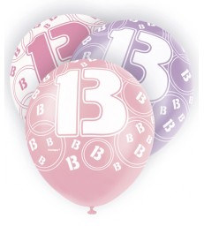 6 12'' PINK GLITZ BALLOONS -13