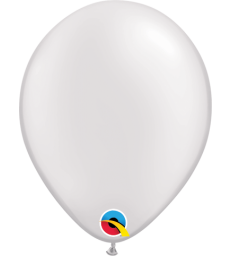 "Pearl White Pack of 100 5"" latex balloons"