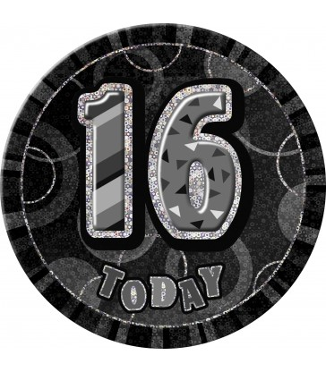 BLACK GLITZ 6'' BADGE- 16