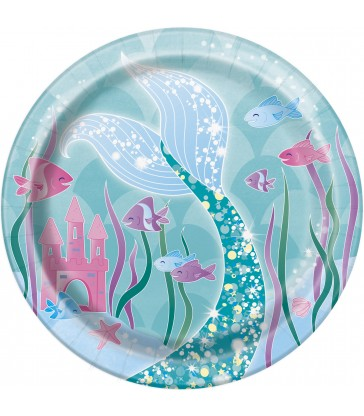 "8 MERMAID 7"" PLATES"