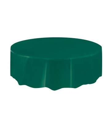 FOREST GREEN ROUND TABLECOVER 84 DIA