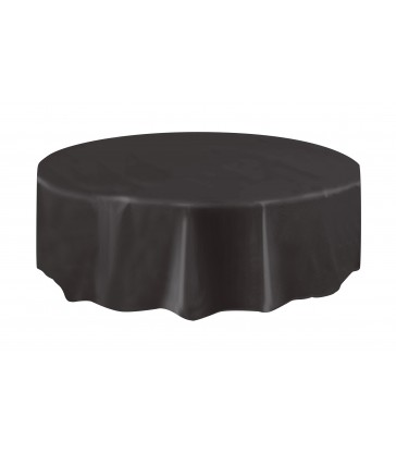 BLACK ROUND TABLECOVER 84 DIA