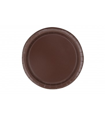 "16 BROWN 9"" PLATES"