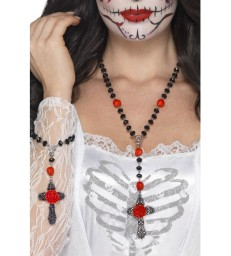 Day of the Dead Rosary Bead Set