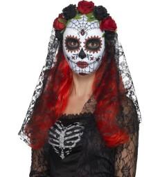 Day of the Dead Senorita Mask, Full Face