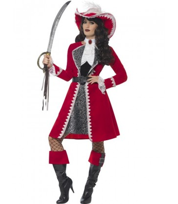 Deluxe Authentic Lady Captain Costume