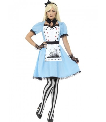 Deluxe Dark Tea Party Costume, with Dress