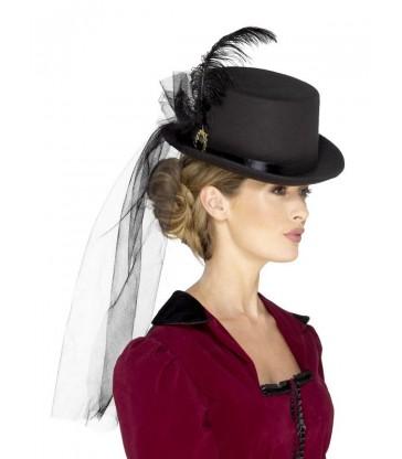 Deluxe Ladies Victorian Top Hat
