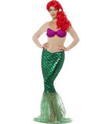 Deluxe Sexy Mermaid Costume, Green
